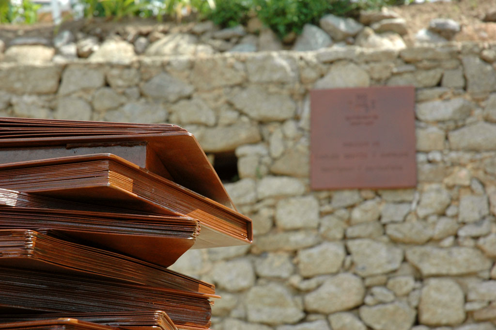 Escultura acero corten
