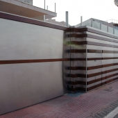 fachada inoxidable corten