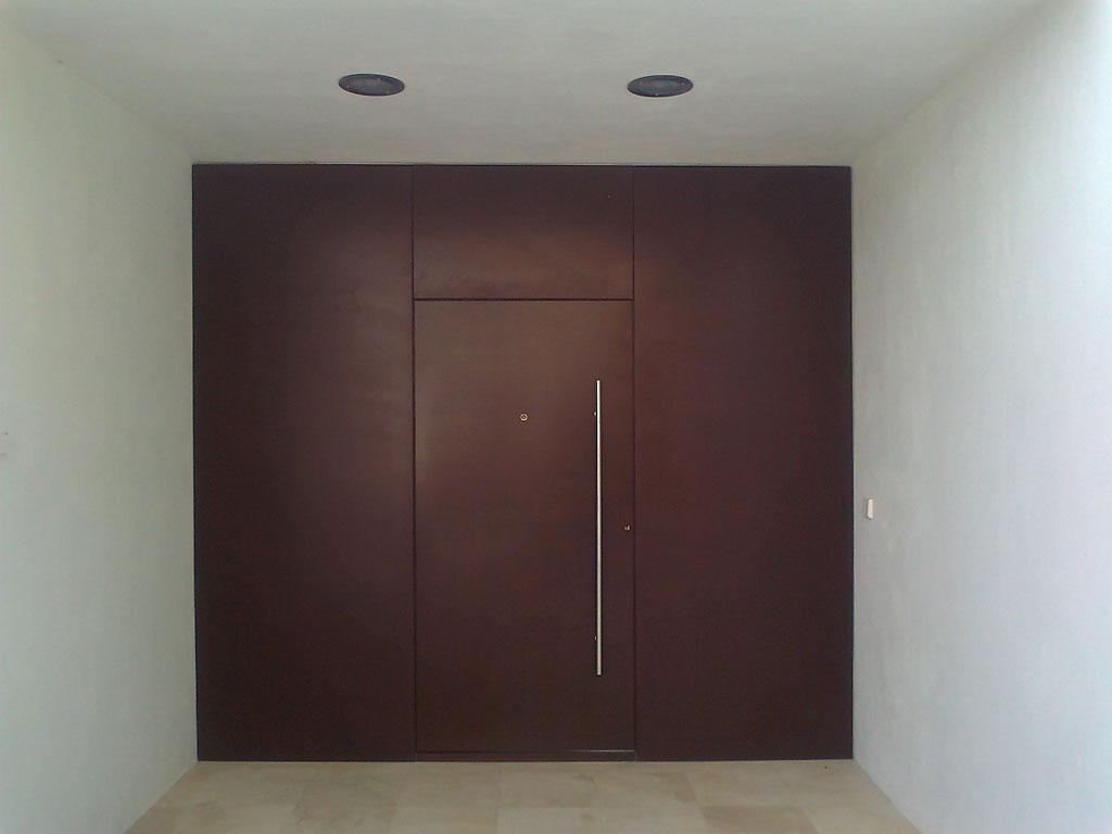puerta entrada acero corten