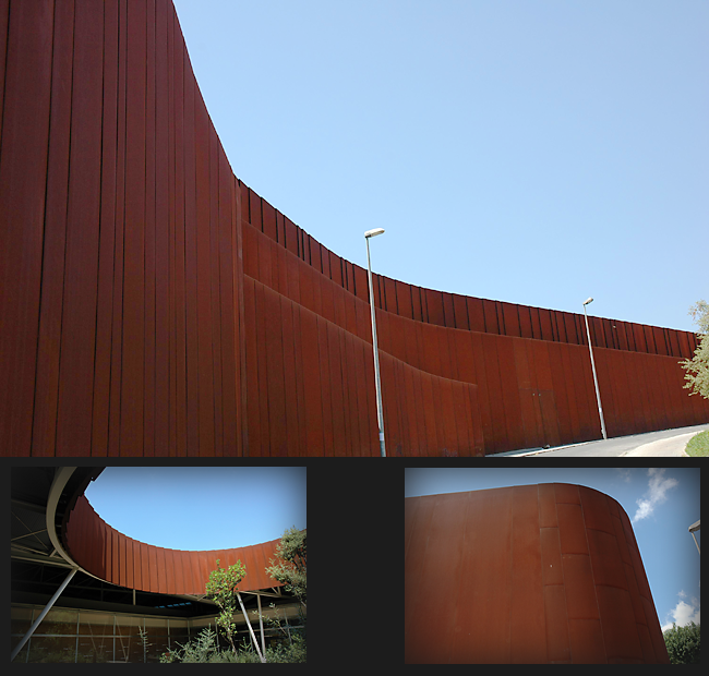 grandes fachadas en acero corten