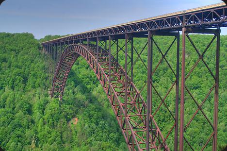 New River Gorge Bridge acero corten