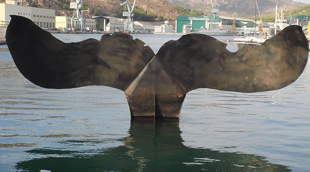 Cola de ballena acero corten