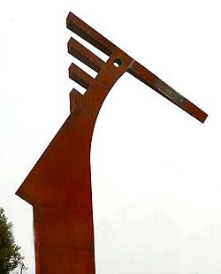 Escultura acero corten alubilla