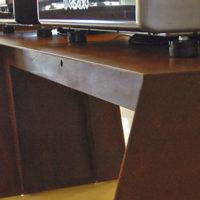 Mesas de acero corten
